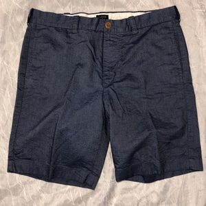 J Crew Blue Gramercy Classic Shorts - 34W